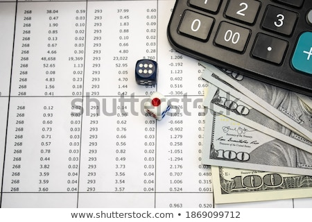 column from dices stock photo © timbrk