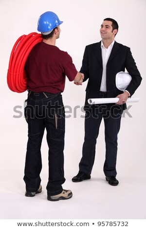 Tradesman and engineer meeting for the first time Stock photo © photography33