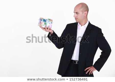 maschio · agente · immobiliare · miniatura · casa · Palm - foto d'archivio © photography33