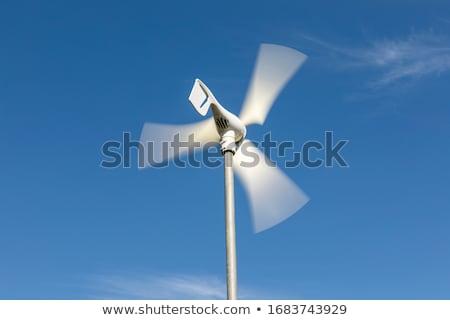 Domestique éolienne générateur ciel bleu faible vertical Photo stock © Rob300