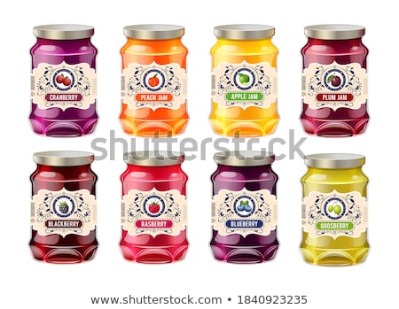 Plum and peach jam in glass jar Stock photo © erierika
