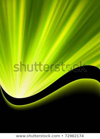 Bright blast of light on green tone. EPS 8 Stock photo © beholdereye