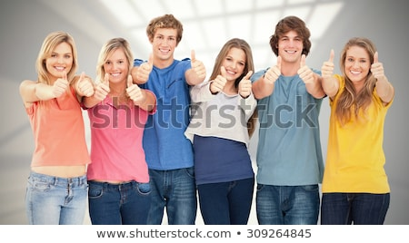 glimlachend · jonge · vrouwelijke · witte · glimlach - stockfoto © wavebreak_media