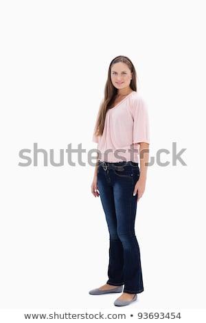 женщина улыбается профиль белый улыбка моде тело Сток-фото © wavebreak_media