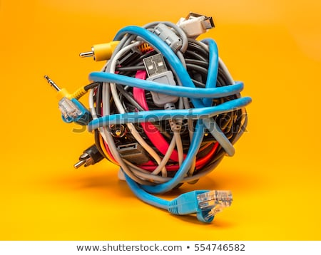 a tangle of cables and wires stock photo © michaklootwijk