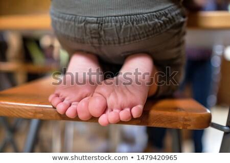 Bebek ayaklar oturma odası adam yürüyüş Stok fotoğraf © wavebreak_media