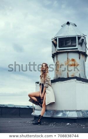 vrouw · omhoog · stijl · witte · gezicht · schoonheid - stockfoto © wavebreak_media