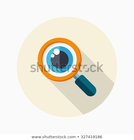 Eyeball in magnifying glass Stock photo © gladiolus