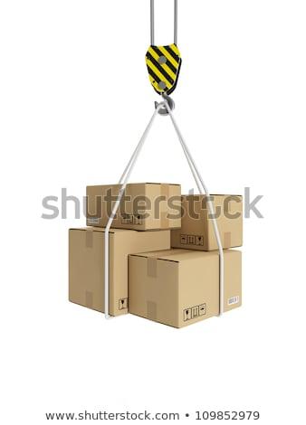 Ilustração 3d carga transporte guindaste gancho cartão Foto stock © kolobsek