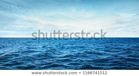 Tekne deniz gökyüzü mavi su bulutlar Stok fotoğraf © mariephoto