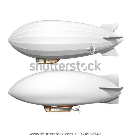 Sterowiec cartoon obraz pływające czarno białe wersja Zdjęcia stock © cteconsulting