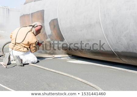 Construction COMPRESSED AIR OPERATION Stock photo © rufous