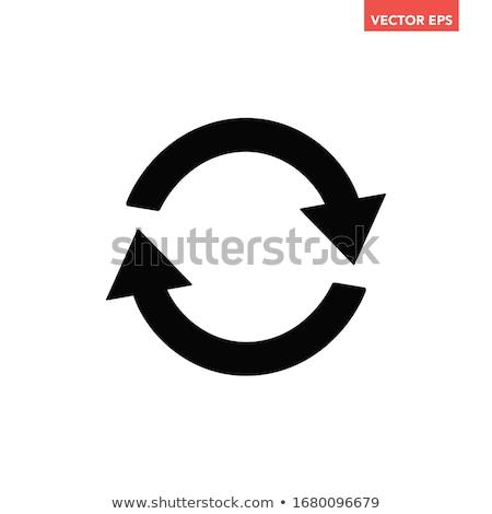 Workflow recyklingu ikona obraz działalności sieci Zdjęcia stock © cteconsulting
