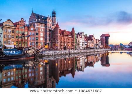 Gdansk Lengyelország magasról fotózva kilátás történelmi város Stock fotó © FER737NG