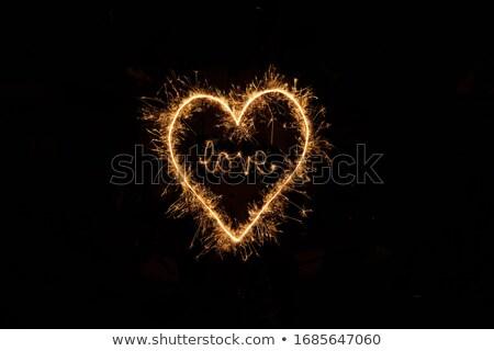 Liefde sterretje verjaardag teken brief zwarte Stockfoto © Paha_L