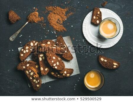 печенье черный шоколадом орехи Рождества сердце Сток-фото © thomaseder