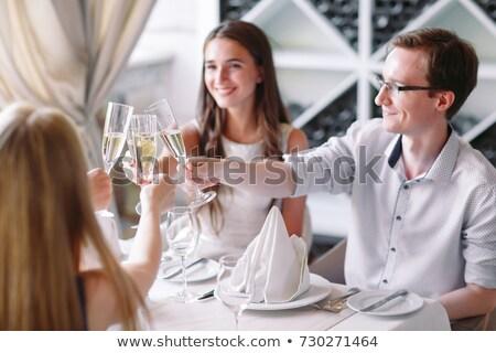 brunch · gıda · alışveriş · siyah · beyaz · tahta - stok fotoğraf © photography33