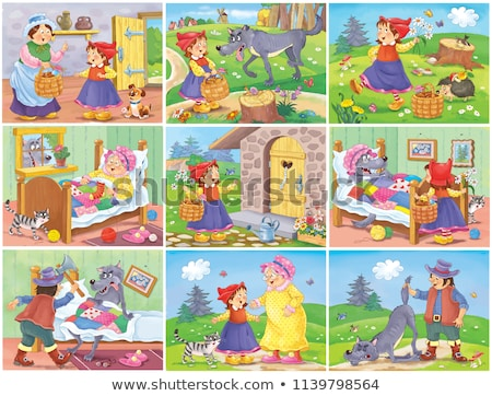 Little Red Riding Hood funny cartoon  Stock photo © kariiika