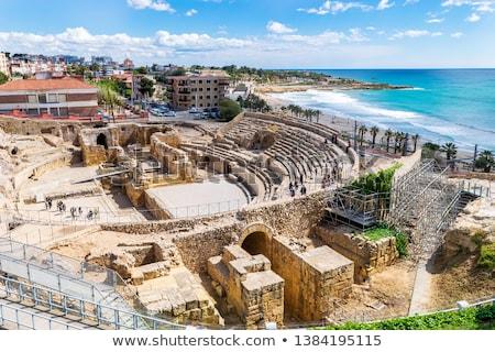 Stok fotoğraf: İspanya · panoramik · görmek · plaj · şehir · deniz