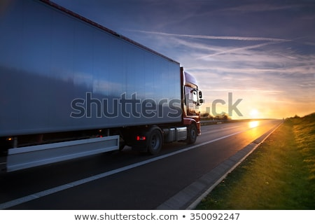 Stock photo: Heavy Transportation Truck Lorry On A Road