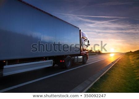 citromsárga · teherautó · hegy · kő · energia · kosz - stock fotó © lunamarina