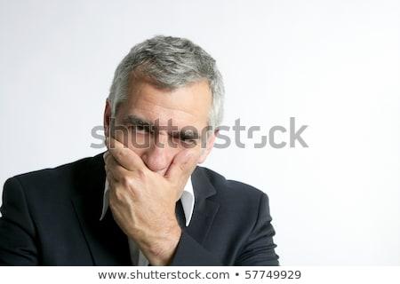 grijs · haar · triest · bezorgd · senior · zakenman - stockfoto © lunamarina