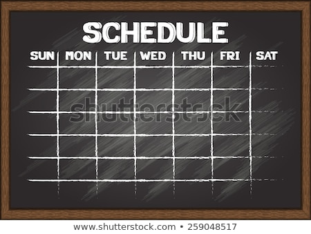 Weekly Calendar Chalk Drawing Stock photo © kbuntu