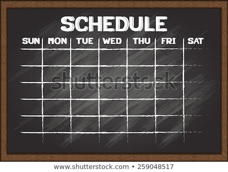 calendrier · l'ordre · du · jour · calendrier · coup - photo stock © kbuntu
