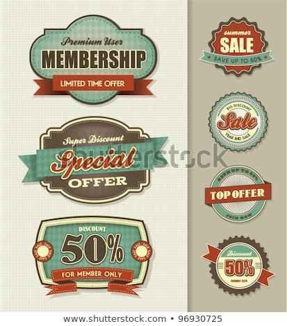 Top ретро Знак 1980 бизнеса знак Сток-фото © vipervxw