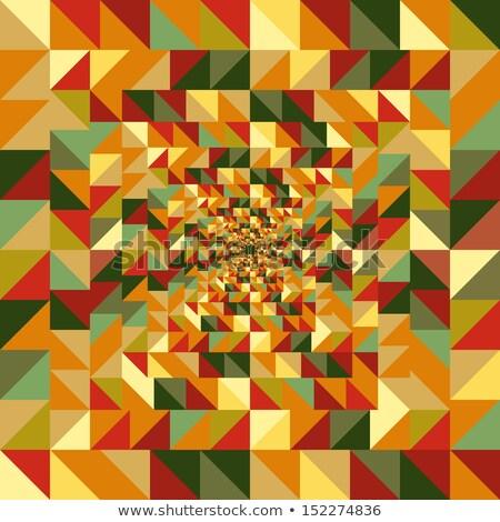 őszi · idény · háromszög · végtelen · minta · eps10 · akta · absztrakt - stock fotó © cienpies