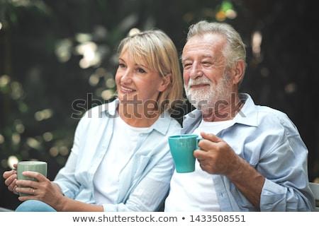 Senior donna bere esterna Foto d'archivio © ozgur