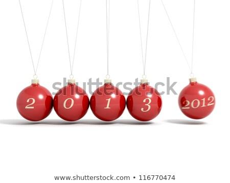 Befejezés 2013 év üdvözlet új év festmény Stock fotó © stevanovicigor