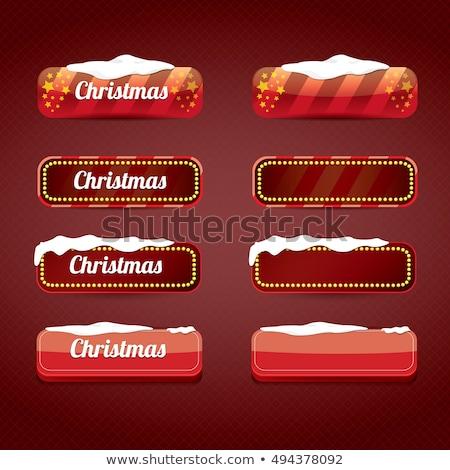 christmas or winter snowflakes vector buttons set stock photo © redkoala