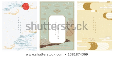 Japón decoración marco floral ornamento flor Foto stock © Natashika