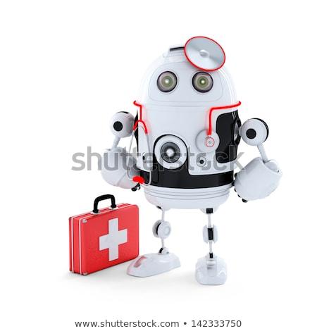 Médico robô reparação de computadores prestados escuro médico Foto stock © Kirill_M