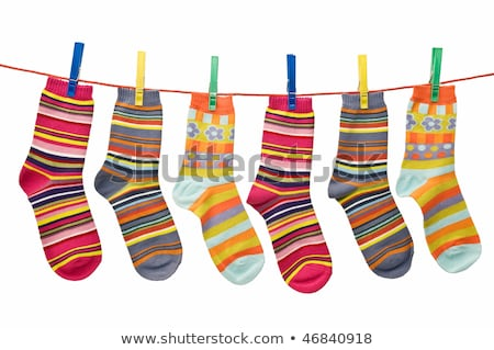 socks on a washing line stock photo © rogerashford