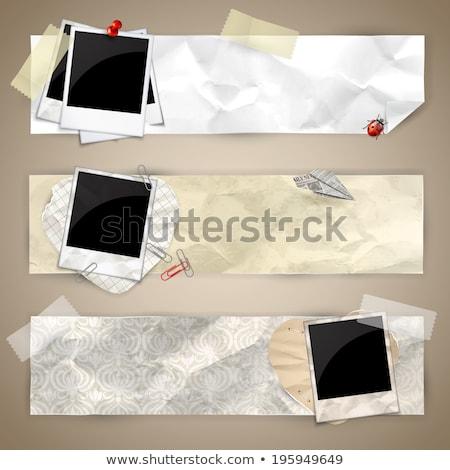 Joaninha papel velho joaninha velho documentos Foto stock © kalozzolak