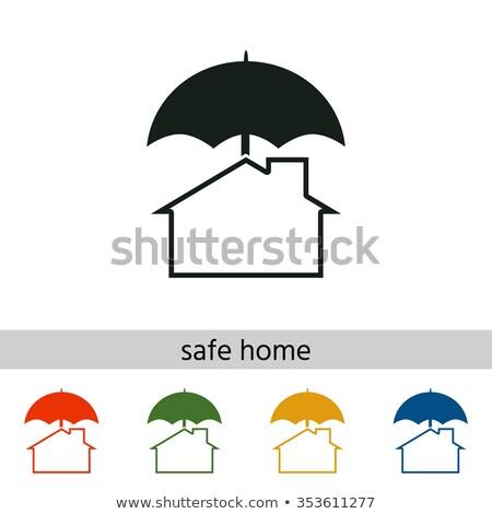 теплица красный зонтик страхования дизайна фон Сток-фото © gladiolus
