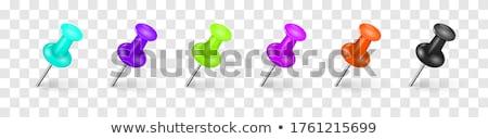 Stock foto: Colored Transparent Pushpins