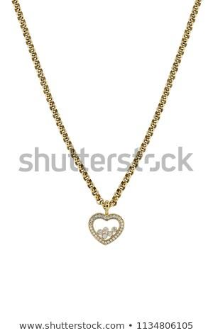 értékes gyémánt izolált fehér közelkép ékszerek Stock fotó © AndreyPopov