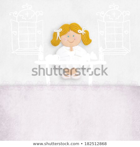 First Communion with blank space for child's name Stock photo © marimorena