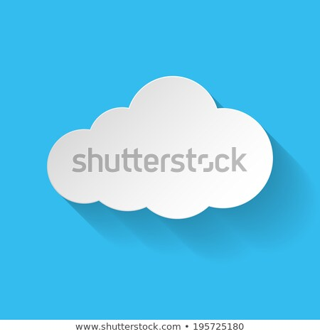 Adattárolás világoskék terv klasszikus hosszú árnyékok Stock fotó © tashatuvango
