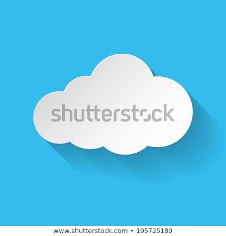 Data Storage on Light Blue in Flat Design. Stock photo © tashatuvango