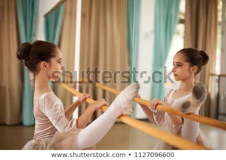bailarín · pierna · armas · ballet · plantean - foto stock © dash