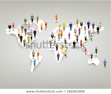 Carte du monde cible bureau carte fond Photo stock © designers