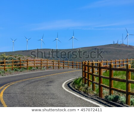 Entrance road to a wind farm Stock photo © stryjek
