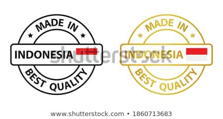Made in Indonesia on Red Rubber Stamp. Stock photo © tashatuvango
