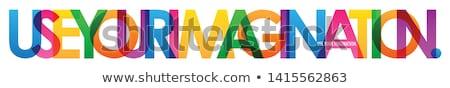 Stockfoto: Verbeelding · poster · abstract · teken