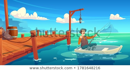 Fisher boats Stock photo © digoarpi