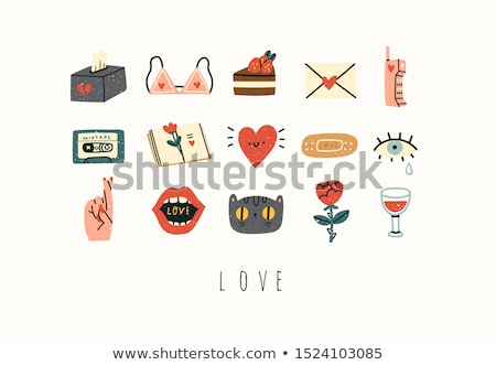 dating and romance - napkin doodle Stock photo © PixelsAway